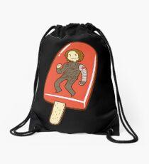 Strawberry Ice Pop Drawstring Bag