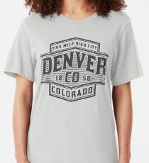 Denver Colorado The Mile High City  Slim Fit T-Shirt