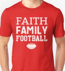 Camiseta unisex Faith Family Football