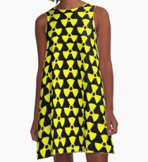 Warning Radiation T A-Line Dress