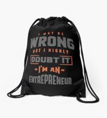 I'm an Entrepreneur T-shirt Drawstring Bag
