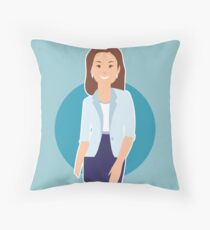 Business Woman Throw Pillow
