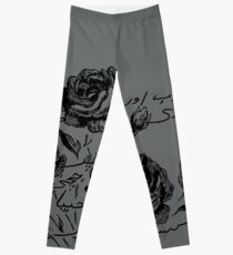 Roses and Love Urdu Poem Calligraphy Leggings