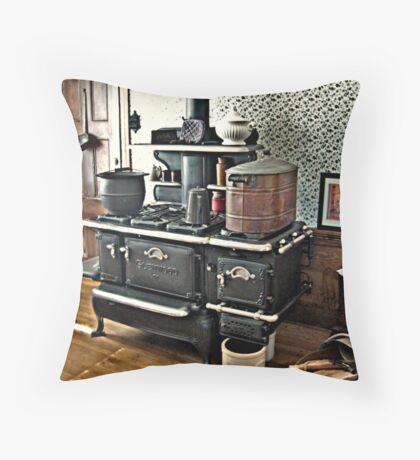 Kitchen Stove in Lizzie Borden's House Throw Pillow