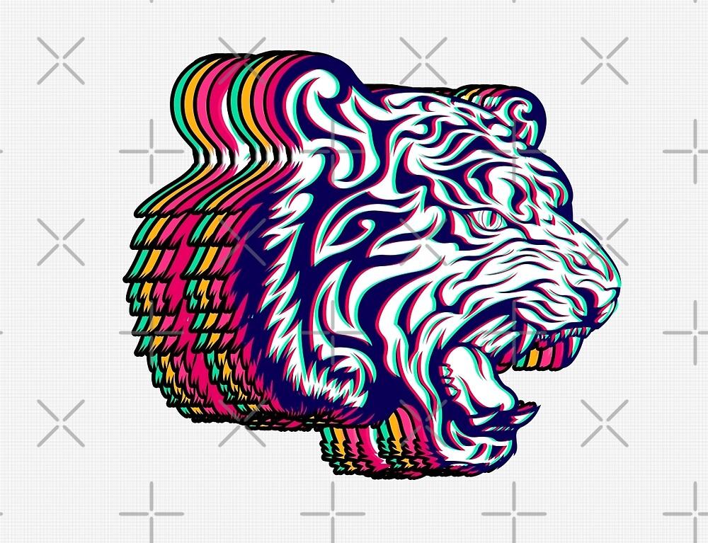3D Tiger by Ewan Arnolda