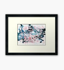 Pink and blue abstract Framed Print