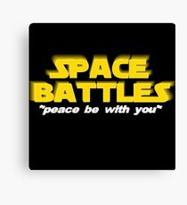SPACE BATTLES peace be with you Canvas Print