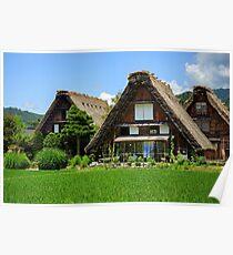 Historic village of Shirakawago in Japan  Poster