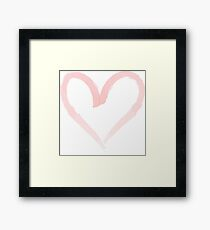 Watercolor heart. Framed Print