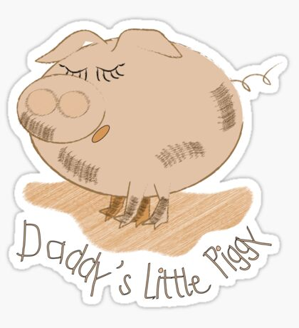 Daddy's little piggy- Babies clothing Sticker