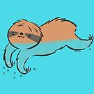 Swimming Sloth by zoel