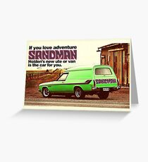 Holden Sandman Panel Van - Nostalgic © Greeting Card