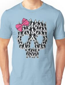 Boston Terrier Sugar Skull Unisex T-Shirt