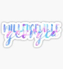 Milledgeville Watercolor Text Sticker