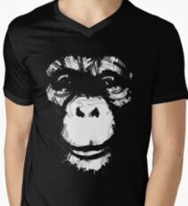 Everything's More Fun With Monkeys Men's V-Neck T-Shirt