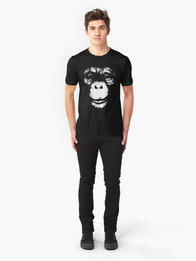 Alternate view of Everything's More Fun With Monkeys Slim Fit T-Shirt