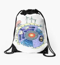 Puny Planet Drawstring Bag