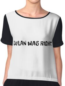 bob dylan rock inspirational quote cool t shirts Chiffon Top