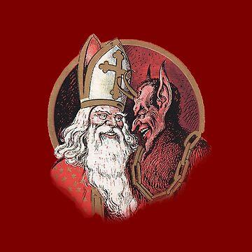 Krampus and Santa Christmas by dzdn