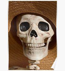 Skull in hat Poster