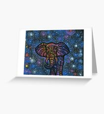 Galactic Elephant Greeting Card