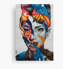 Audrey Hepburn Street Art Canvas Print