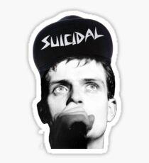 Ian Curtis - Suicidal Tendencies Sticker