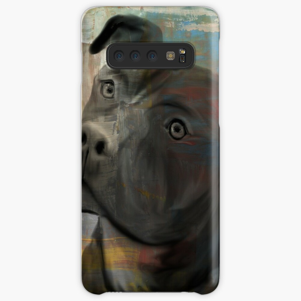 Pit Bull Piglet in Paint Case & Skin for Samsung Galaxy