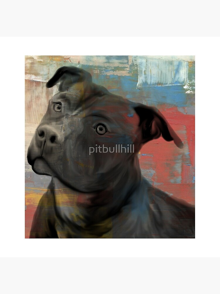Pit Bull Piglet in Paint von pitbullhill