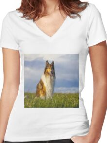 animales Women's Fitted V-Neck T-Shirt