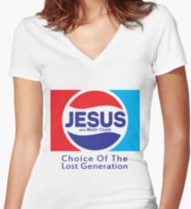 Jesus & Mary Chain - Lost Generation Pepsi Mashup Women's Fitted V-Neck T-Shirt