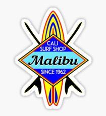 SURFING MALIBU CALIFORNIA SURF SHOP VINTAGE RETRO SURFBOARD Sticker