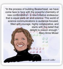 #SciComm100: Mary Anne Moser Sticker
