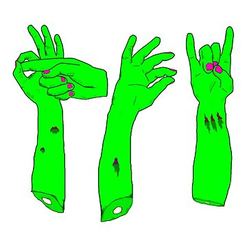 Zombie Sign Language by benj