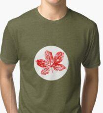 Buckeye Leaf Tri-blend T-Shirt