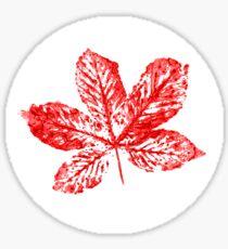 Buckeye Leaf Sticker