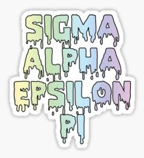Sigma Alpha Epsilon Pi Dripping Rainbow Sticker