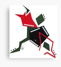 Abstract - Red/Green  Canvas Print