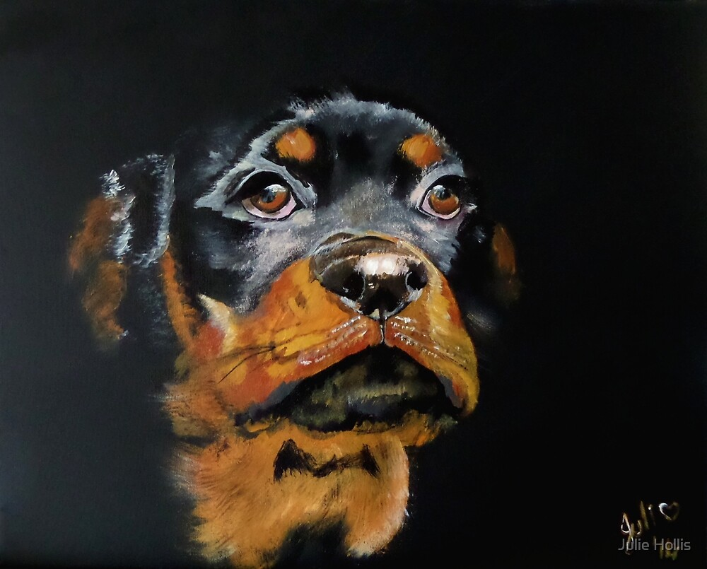 Rascal the Rottweiler Pup by Julie Hollis
