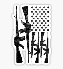 AR-15 2nd Amendment Gun Rights American Flag Sticker