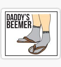 Daddy's Beemer ~ dad fashion  Sticker