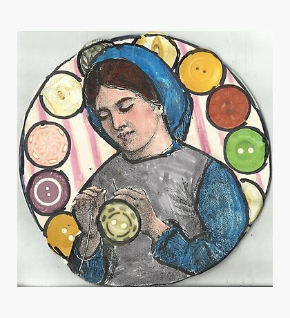 She Dreams Of Buttons.. Photographic Print