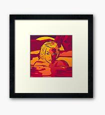 Sunset Swim [Imagine Series] Framed Print