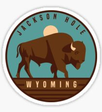 Jackson Hole, Wyoming graphic Sticker