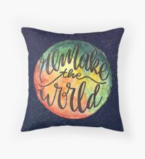 Remake the World Throw Pillow