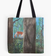 Grazing in the redwoods Tote Bag