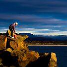 Rock Wall Fisherman by ShotsOfLove