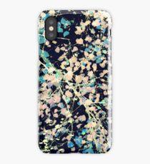 Nature Pattern # 5 - Birch 2 (Blue) iPhone Case/Skin