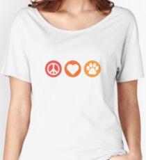 Peace Love Pooch Original Shirt Women's Relaxed Fit T-Shirt