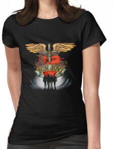 Bon Jovi World Tour Womens Fitted T-Shirt